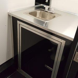 Single Hand Wash Sink in Cabinet (use with base water package)