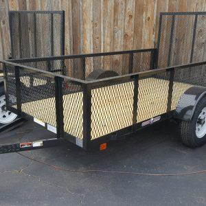 "Currahee 5' X 10' Landscape Trailer with High Sides, 15"" Tires"