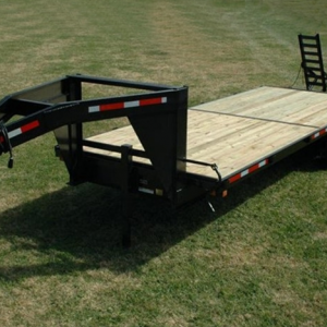 Currahee 8' X 20' 14K Gooseneck Channel Flatbed 8'Wide Deck-over Trailer