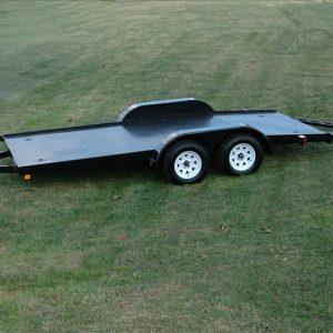 "Currahee 82"" X 16' Carhauler Trailer Full Diamond Plate Floor"