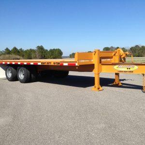 "Econoline 10-Ton 102"" x 20' Heavy Duty Dual-Tandem Flatbed Trailer (No Dovetail or Ramps)-Add Bed Length in Options"