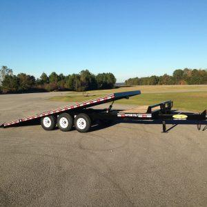 "Econoline 9-Ton 102"" x 25' Tri-Axle Deckover Partial Tilt Trailer (21'+4' Stationary Deck)"