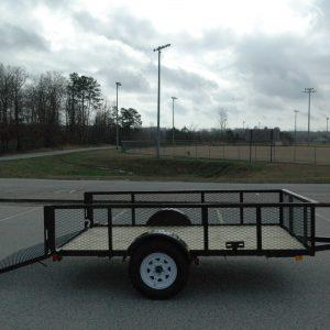 "Currahee 76"" X 10' Landscape Trailer with High Sides, 15"" Tires"
