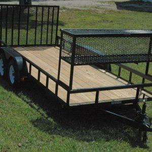 "Currahee 76"" X 16' Double Axle Landscape Trailer Commercial Edition"