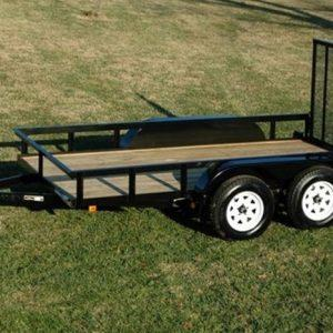 "Currahee 76"" X 12' Double Axle Light Duty Landscape Trailer (No Brakes)"