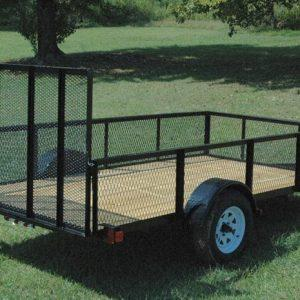 "Currahee 76"" X 12' Landscape Trailer with High Sides, 15"" Tires"