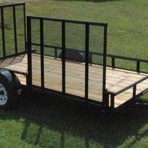 "Currahee 76"" X 12' Landscape Trailer with Side Gate, 15"" Tires"