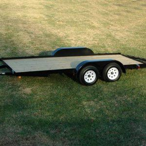 "Currahee 82"" X 16' Wood Deck Carhauler Trailer"