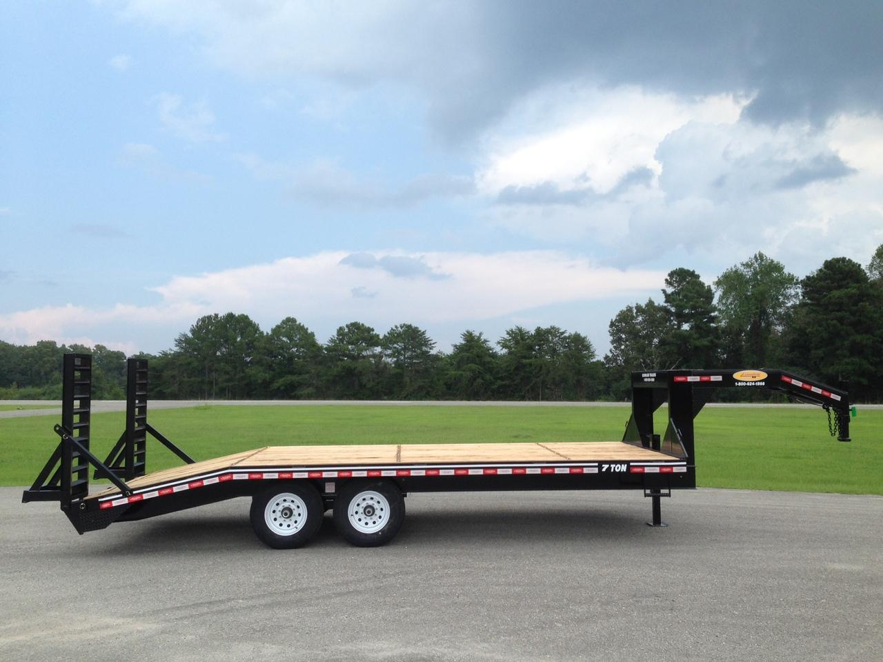 Buy Econoline Gooseneck Trailers At Great Prices Alabama Built Double Car Trailer 24 Foot Flatbed 7 Ton 102 X 21 Deckover Dovetail