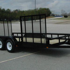 "Currahee 76"" X 16' Double Axle Landscape Trailer with Side Gate"