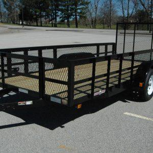 "Currahee 76"" X 12' Double Axle Landscape Trailer With High Sides"
