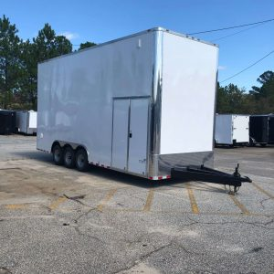 Anvil 8.5' x 20' Triple Axle Two Car Stacker Hauler Trailer-Black or White .040 (shown w/dbl side door upgrade)